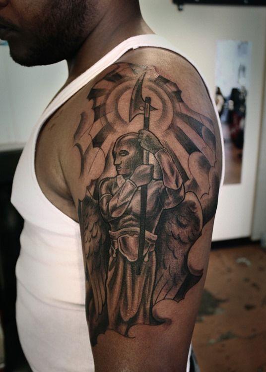 Warrior Angel Tattoo Ideas For Men Cool Man Tattoos Angel Tattoo Men Tattoos For Guys Guardian Angel Tattoo Designs