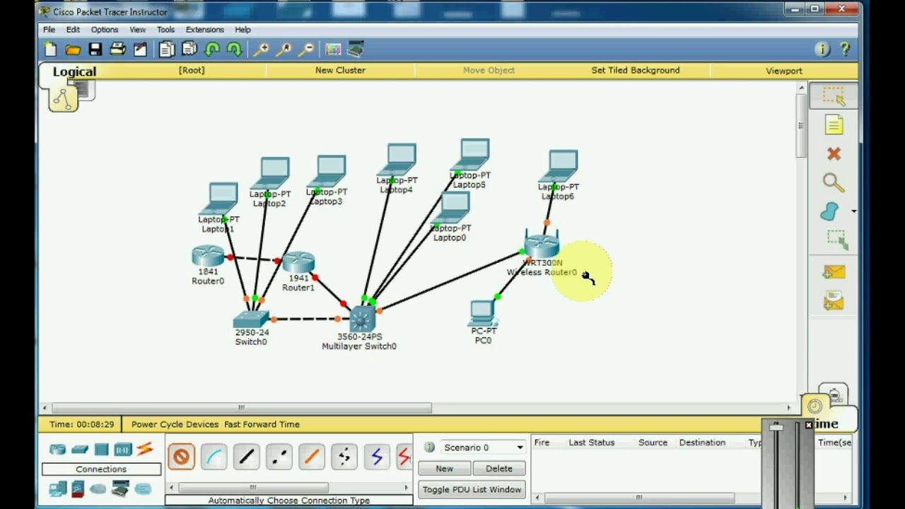 introduction to cisco packet tracer usage in urdu hindi [ 1280 x 720 Pixel ]