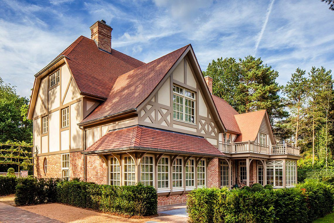 Architectenbureau frank gruwez villa cottage stijl knokke hoog