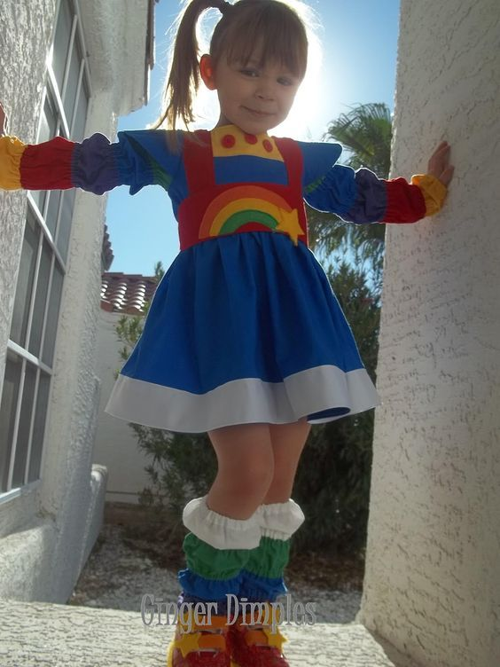PERFECT Rainbow Bright costume! & PERFECT Rainbow Bright costume! | sewing | Pinterest | Rainbow ...