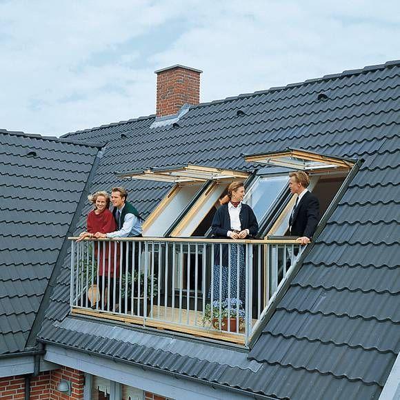 Eine besondere Art des Dachausbaus ist die Integration eines Cabriobalkons. Dieser lässt sich nachträglich in die Dachschräge integrieren und sorgt für einen Mehrwert des Dachgeschosses. #loftconversions
