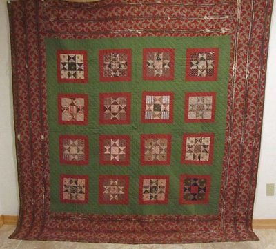 Early 1840/50s Pennsylvania Star Quilt Rich Fabrics Seaweed Lancaster County | Antiques, Linens & Textiles (Pre-1930), Quilts | eBay!