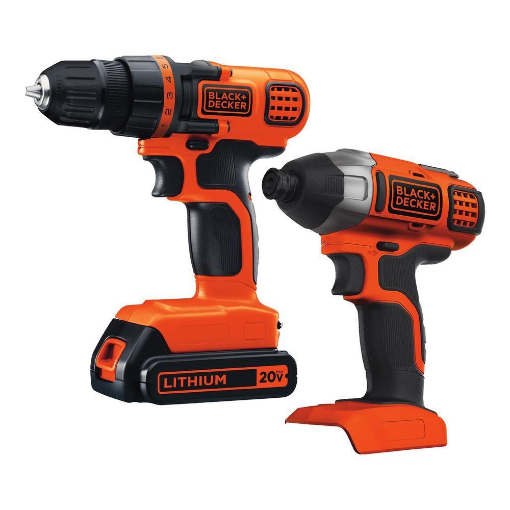 BLACK+DECKER 20-Volt MAX Lithium-Ion Cordless Drill/Driver and
