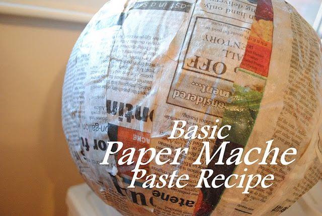 How To Make Paper Mache Paste Paper Mache Paste Making Paper