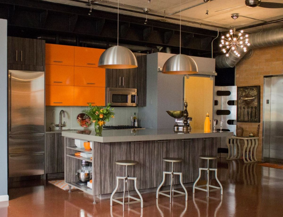 Kitchen Stories Bold Color Compliments A Contemporary Design Kitchen And Bath Design Contemporary Design Bath Design