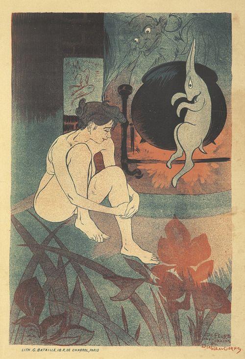 'Aux Copains du Diable au Corps / The Friends of the Devil in the Flesh' by Georges de Feure, 1893.