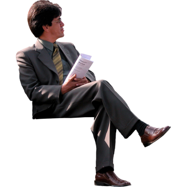 Businessman On Park Bench People Png Png Animated Clipart