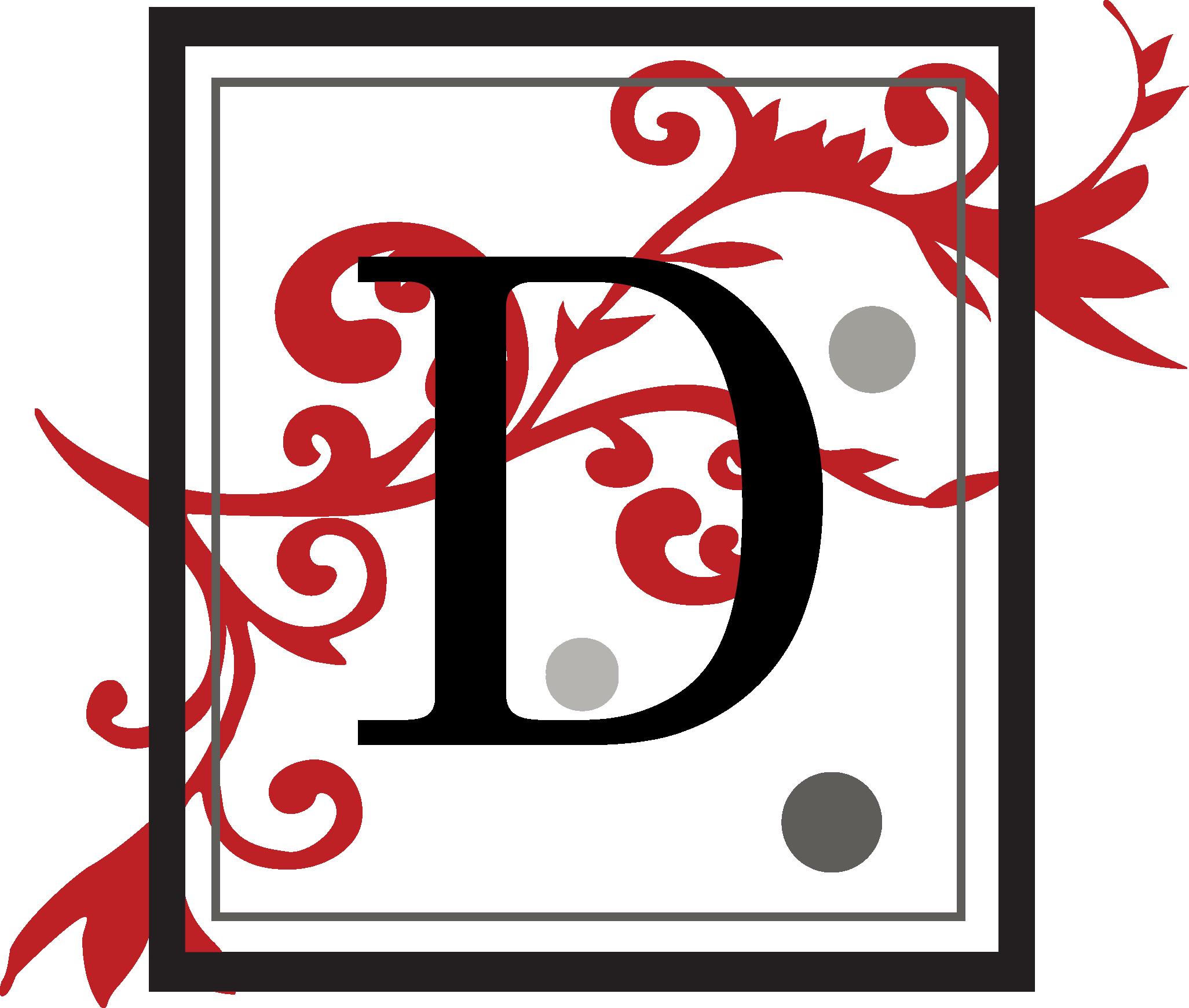 Fancy Square Letter D Svg File Svg Designs Svgdesigns Com Fancy Letters Svg Design Letter B