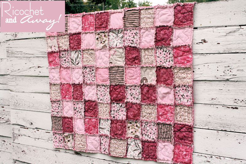 Ricochet and Away!: 100 Sandwiches Rag Quilt tutorial | Piece ... : rag quilt patterns instructions - Adamdwight.com