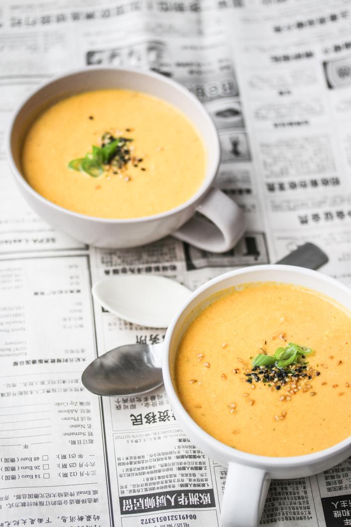 Karotten-Tahini Suppe - Dinner um Acht