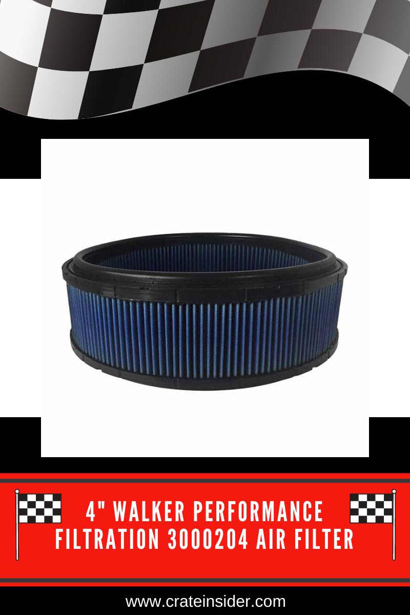 """4"""" Walker Performance Filtration 3000204 Air Filter Air"""