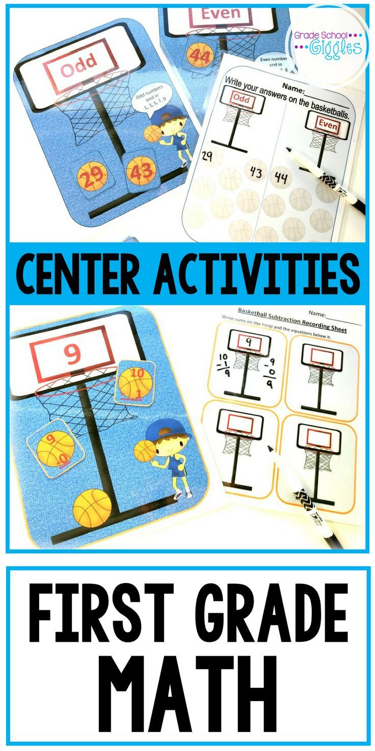 Addition and Subtraction Centers: Basketball Math | Recording sheets ...