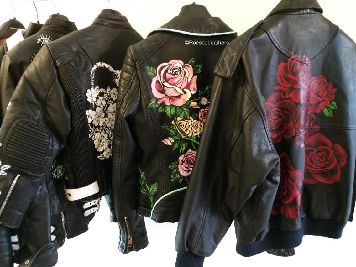 Leather jacket diy - Hand Painted Leather Jackets Handpainted Bespokejacket Leatherjacket
