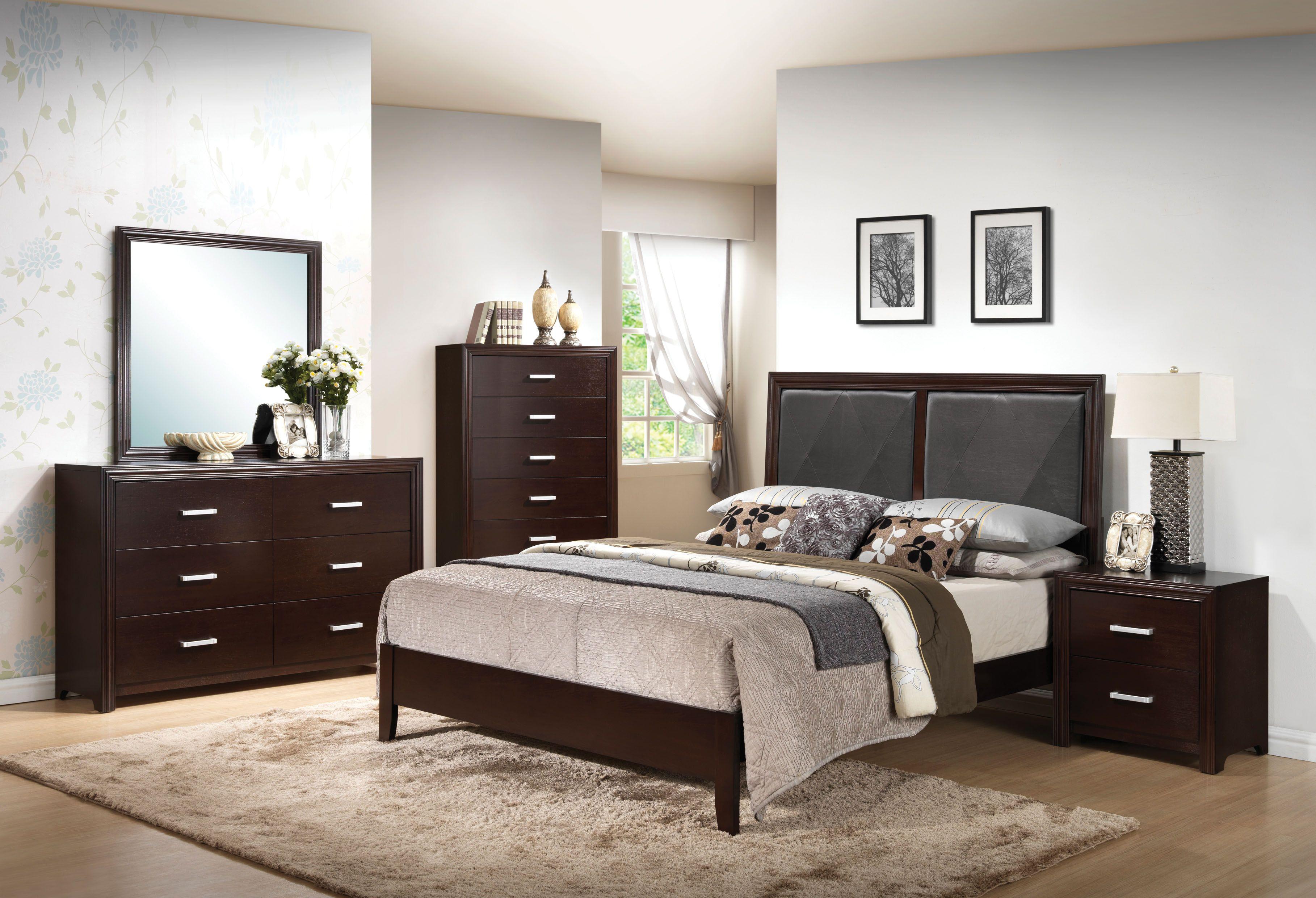 Best Ajay Espresso Queen Bed Master Bedroom Furniture Ikea 400 x 300