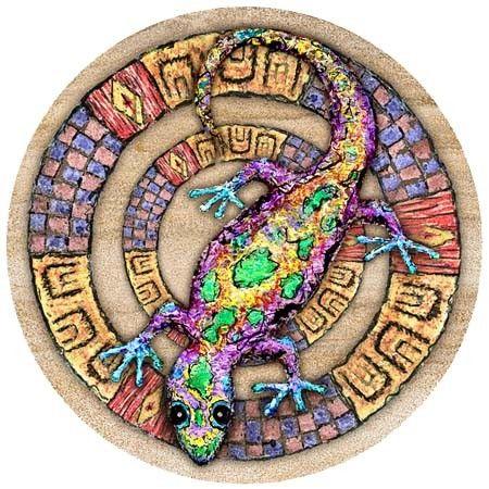 Whimsical Gecko Coaster