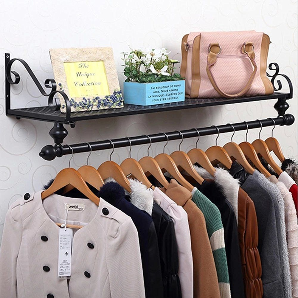 Wall Mounted Clothes Rail Clothing