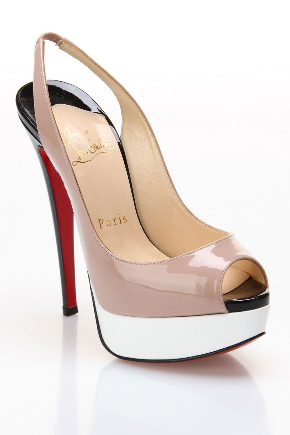 c7c7d4dfb8c Louboutin Lady Peep 150 Slingback Sandal In Nude   GORGEOUS!