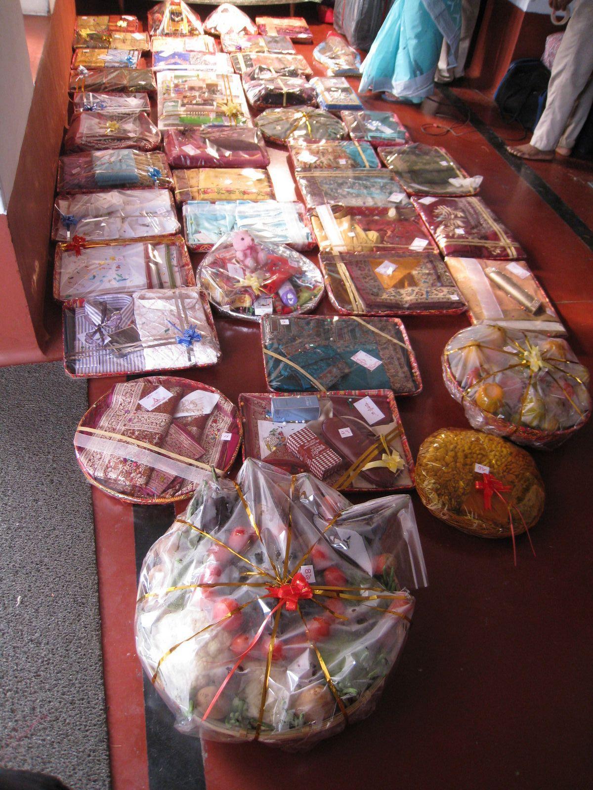 Tatva display Indian wedding gifts, Wedding gifts for bride