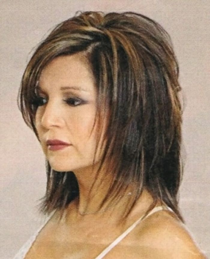 Medium Shag Hairstyles 47 are you an angel Medium Shaggy Hairstyles Medium Length Shag Hairstyle For A Round Face Side View How To