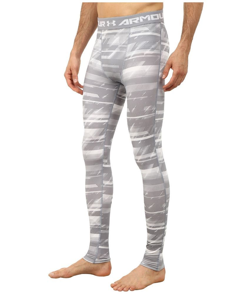 e083feb827fd3a BENEFITS OF THE NEW UNDER ARMOUR HEATGEAR UA MEN'S COMPRESSION PRINTED  STEEL LEGGINGS. FEATURES OF