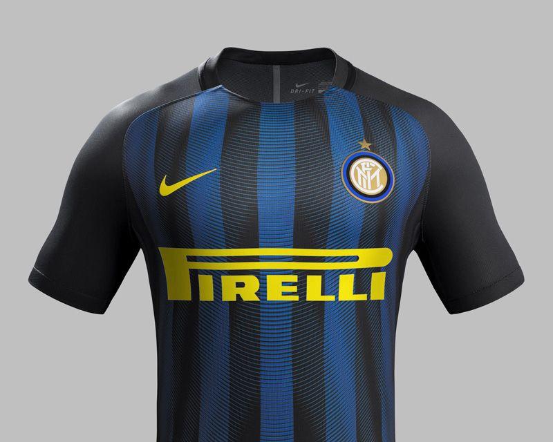 092c60f7cab Camisas da Inter de Milao 2016-2017 Nike Titular