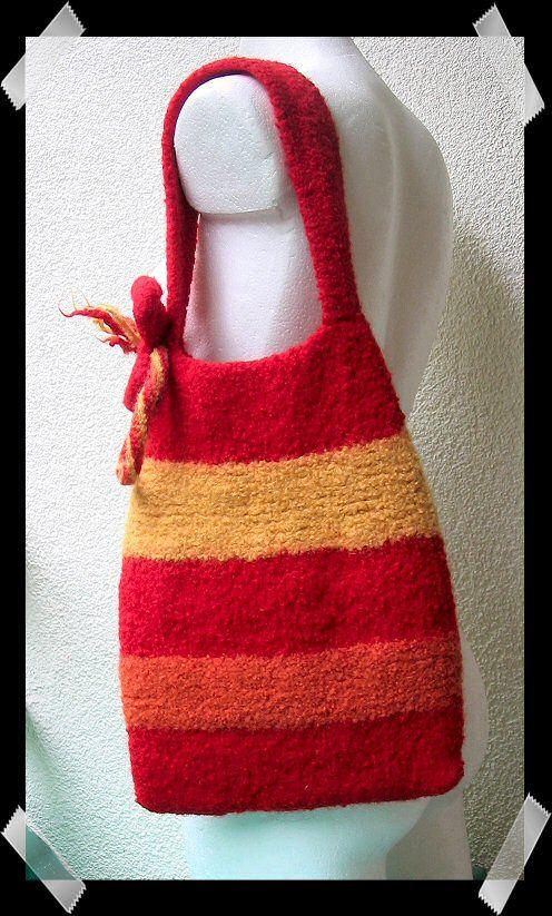 FriendSheep: FREE PATTERNS - Felted Knitting Bag | Washed Wool ...
