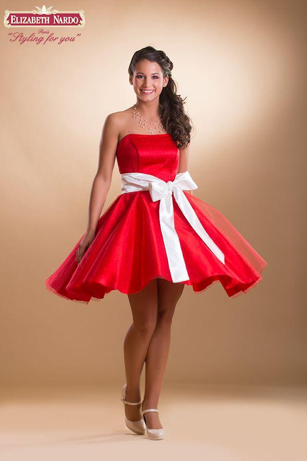727a10cb8a 14-105 menyecske-koktél ruha:piros csillogó tüllös,megkötö öves ...