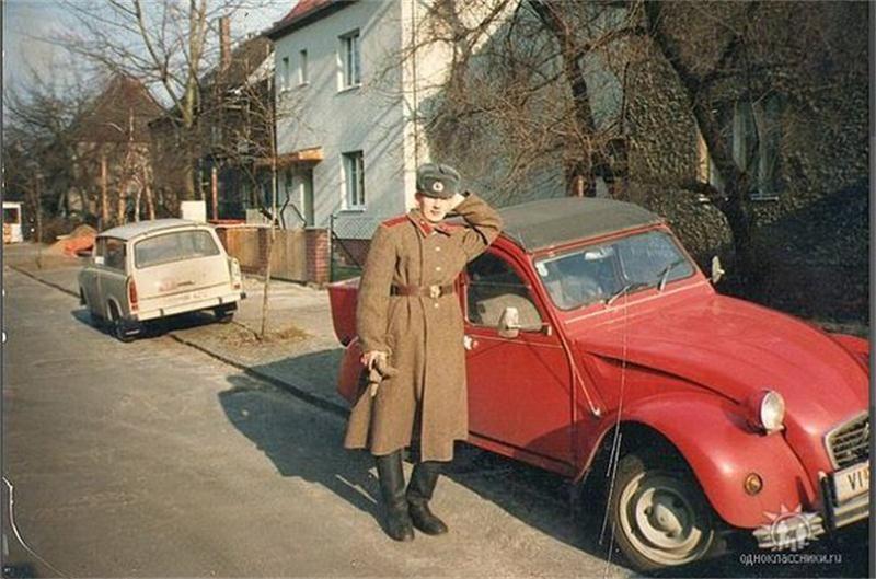 Soviet Army infantryman garrisoned in East Germany posing