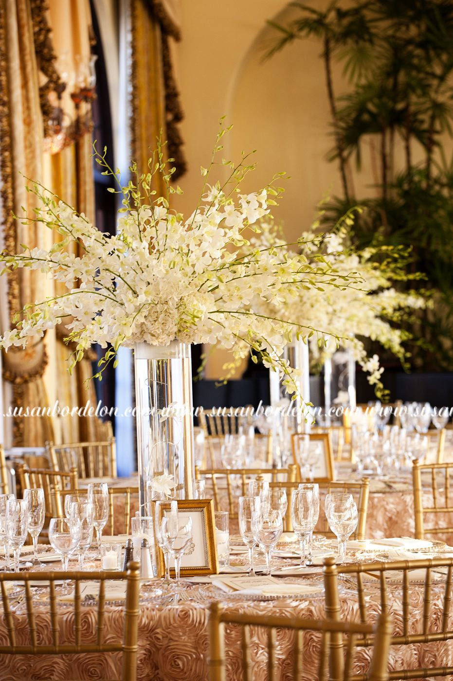 Riviera country club wedding center pieces in my dreams