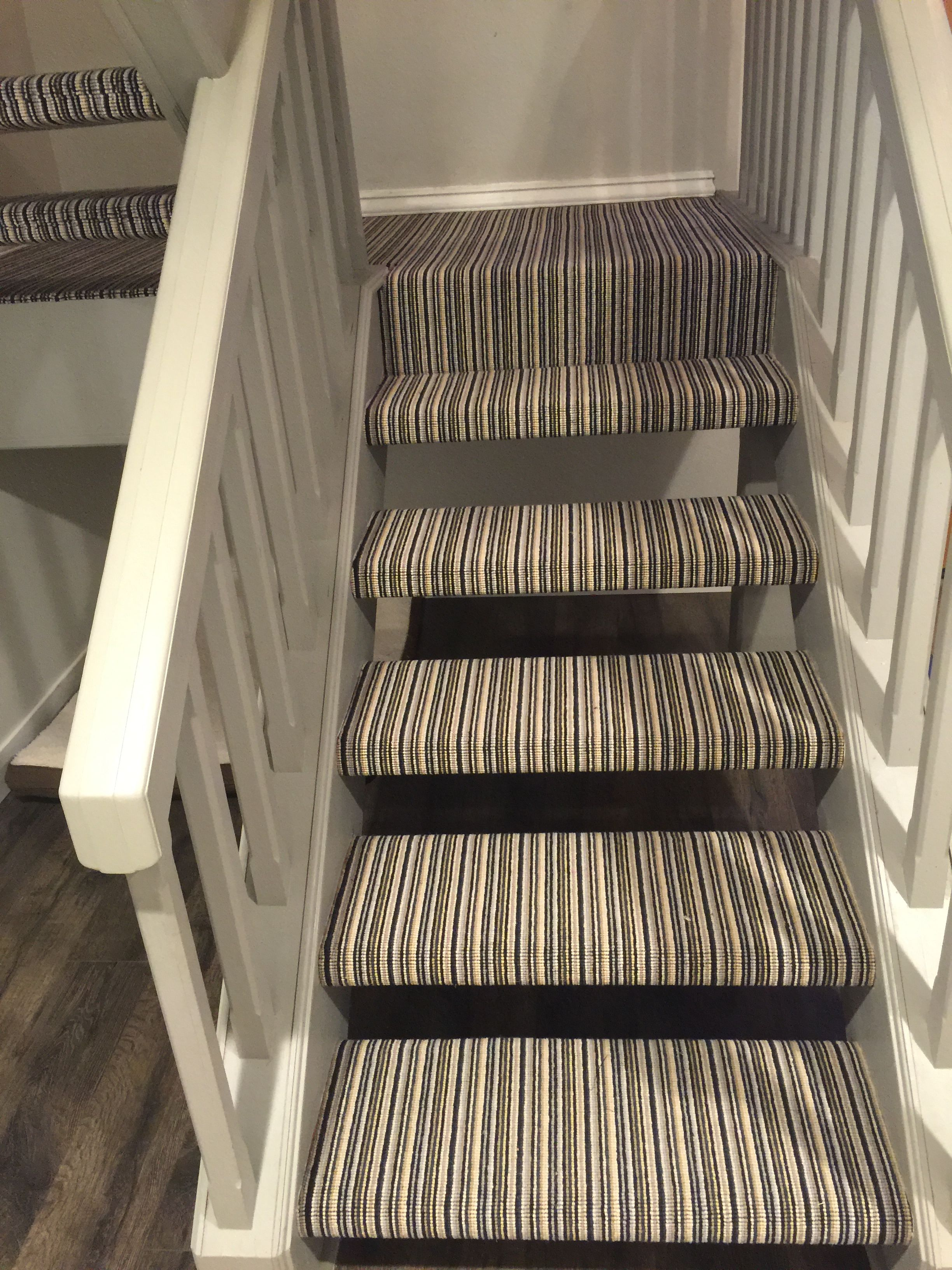 Wool stripe carpet installed for a client in Costa Mesa, CA.  Hemphill's Rugs & Carpets has an extensive selection of patterned carpet.