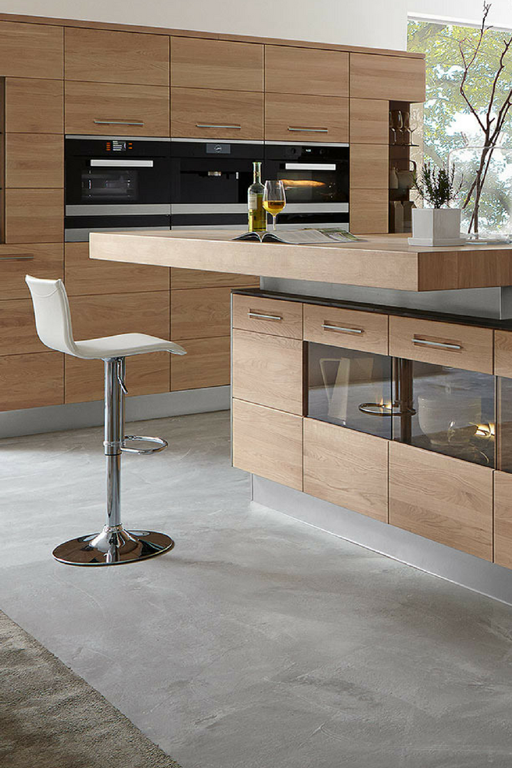 6 Einrichtungsideen Und Kuchenbilder Fur Moderne Holz Kuchen Kuchenfinder Moderne Kuchen Inseln Holzkuche Kuche Holz Modern