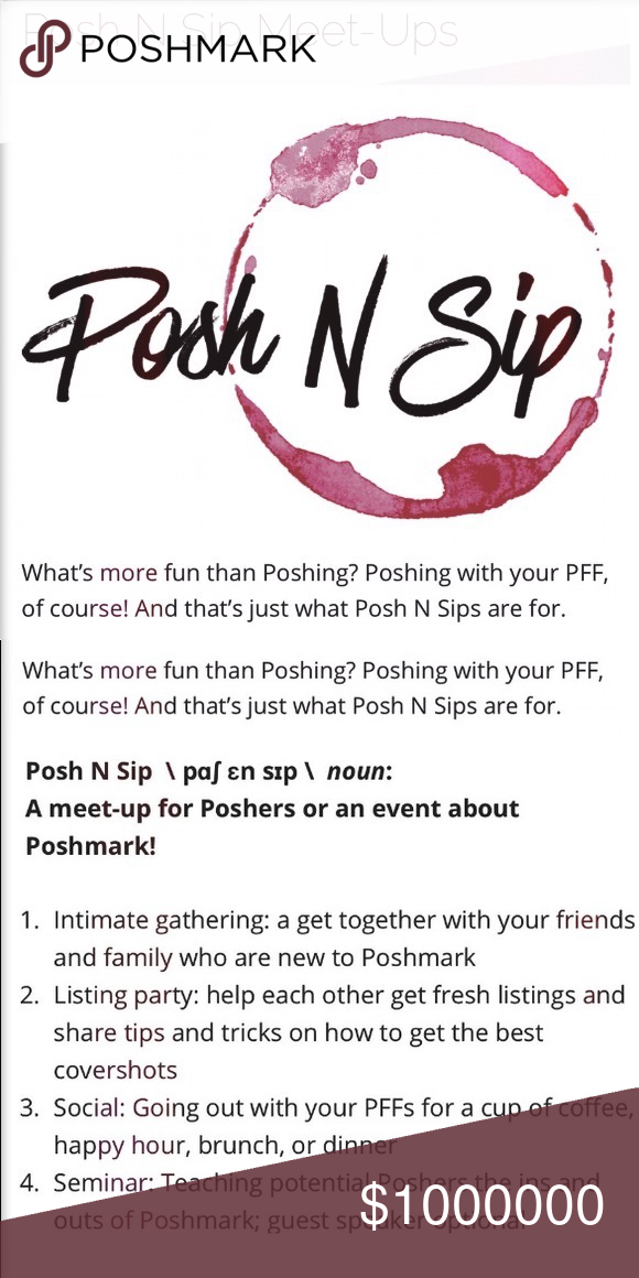 I Am Going To My First Posh N Sip Ever Posh Sip Things To Sell