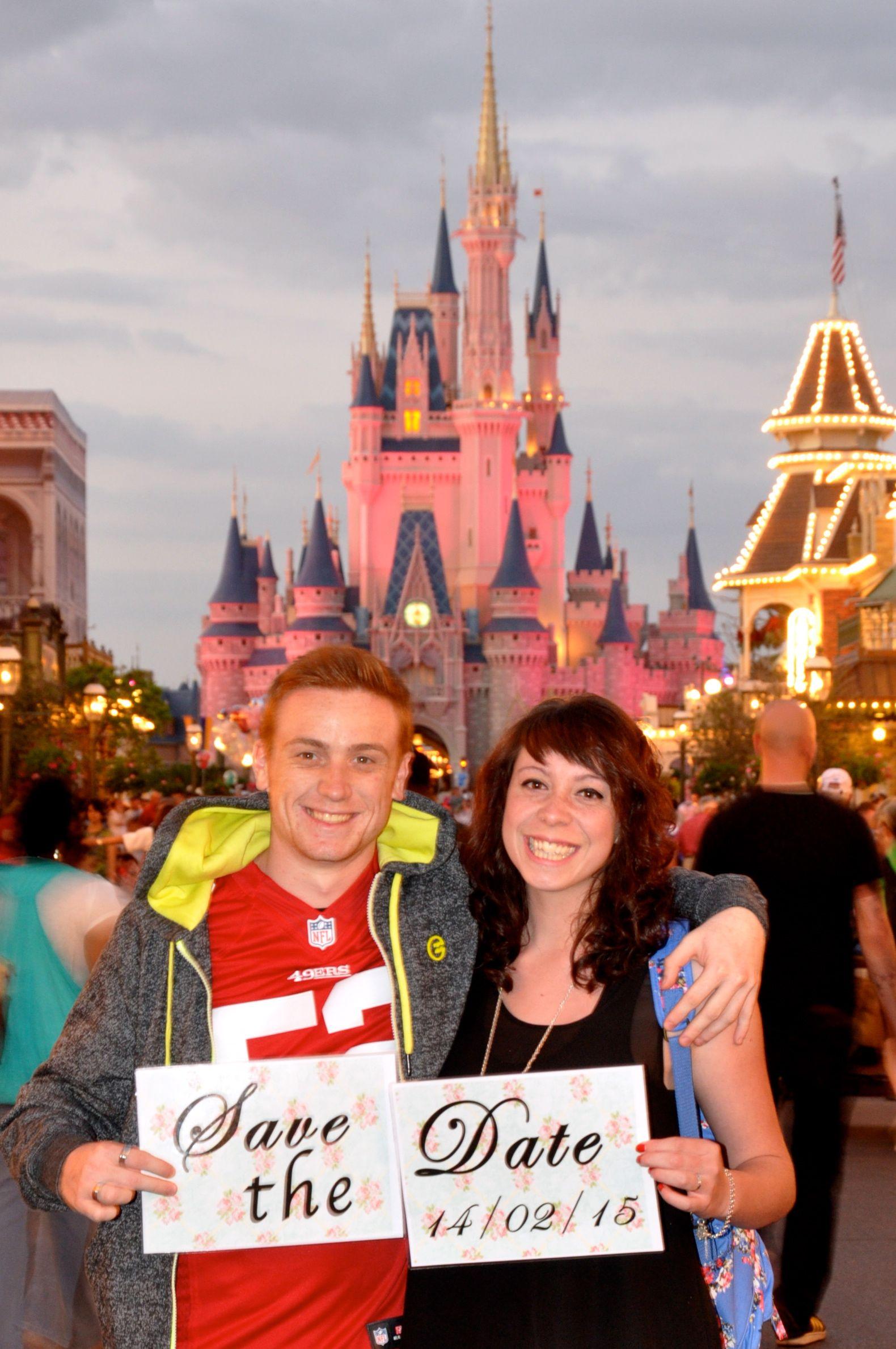 Disneyworld Magic Kingdom Disney Save The Date 25 Wedding Anniversarymagical