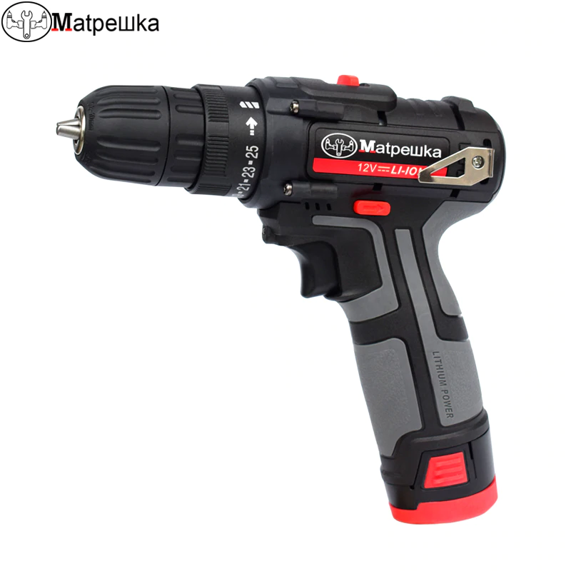 12v Cordless Electric Drill Mini Electric Screwdriver Rechargeable Lithium Battery Electric Screw Driver Electric Drill Electric Screwdriver Power Tool Safety