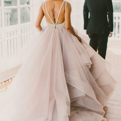 Princess long scoop backless ball gown prom dresses,organza formal champagne prom dress,xp171