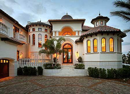 Plan 24106bg Catwalk Loft Mediterranean Homes House Styles Luxury House Plans