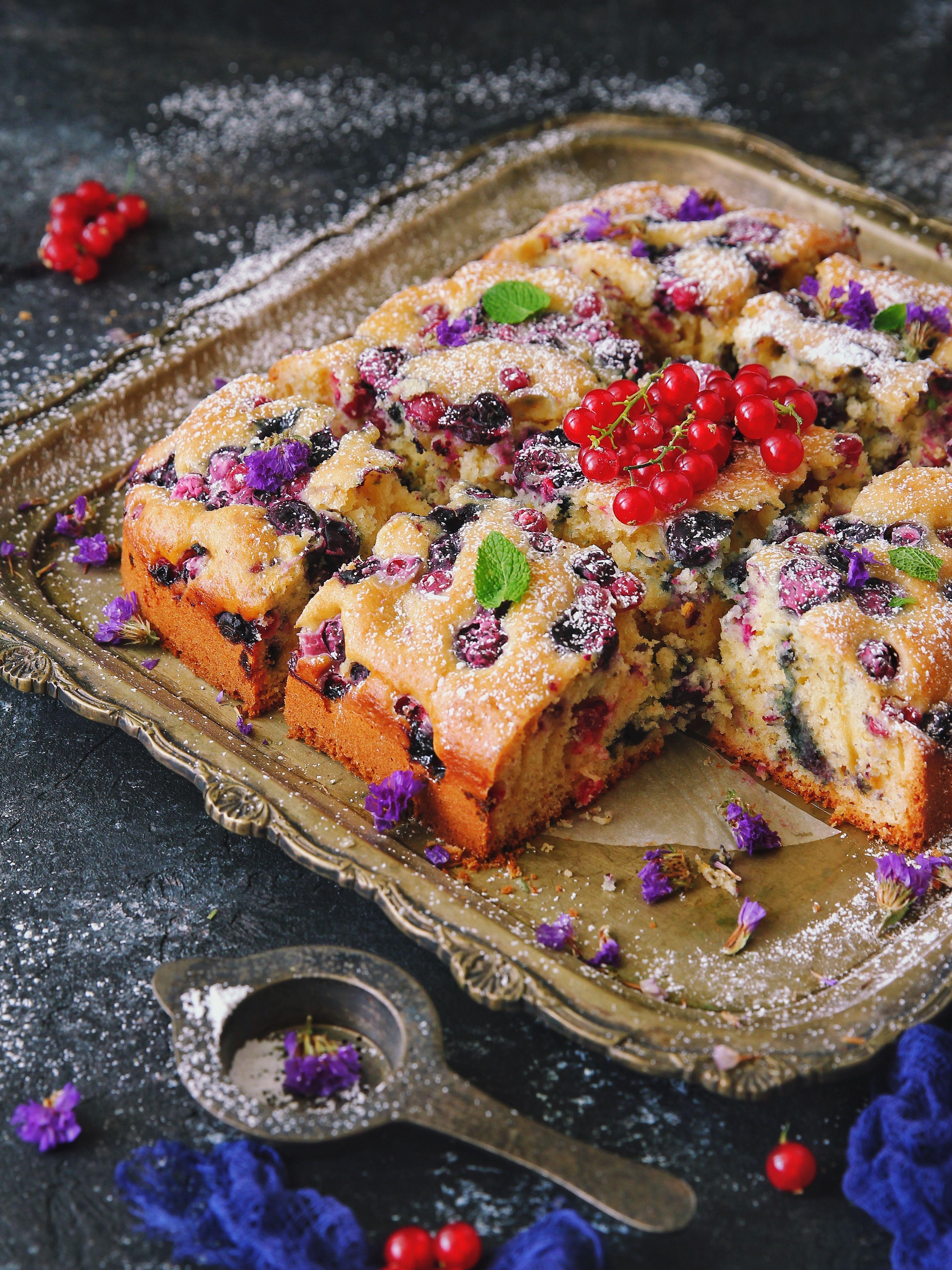 Blueberry Cake Snack Recipes Blueberry Cake Yummy Food