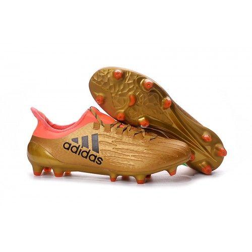 Adidas X 16.3 FG Hombre Bota De Fútbol Oro Negro Rojo 670e0400223fe
