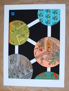 Swarte, Joost - Zeefdruk - Atomium - Belga 58 - (2008)