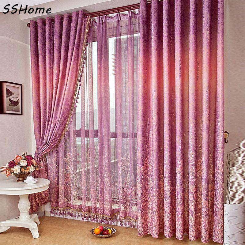 Provence Lavender Rustic Bedroom Quality Ziziphus Jacquard Curtains Window Screening Affiliate