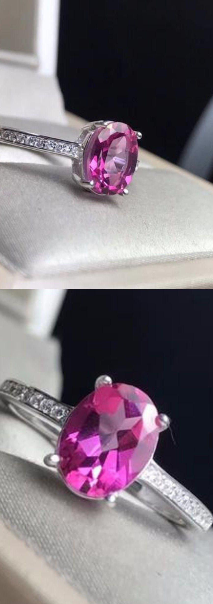 Weddng Jewelry Square Natural Pink Topaz Gemstone Silver Femme Collier Pendentifs