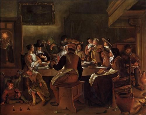 Twelfth Night - Jan Steen, 1662