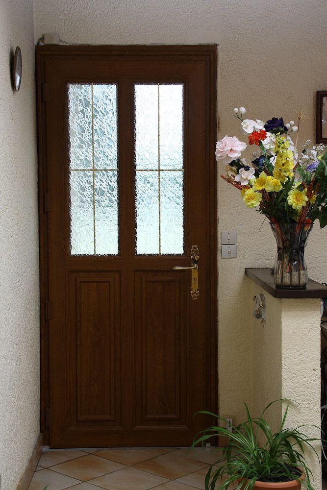 Porte d 39 entr e vitr e pvc fa on bois mod le matisse portes d 39 entr e pvc porte entree pvc - Porte d entree bois vitree ...