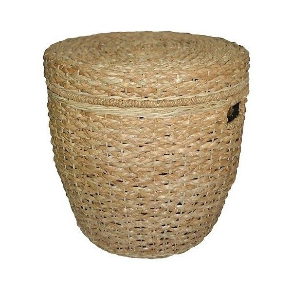Superbe Seagrass Lidded Round Storage Basket ($52) ❤ Liked On Polyvore Featuring  Home, Home