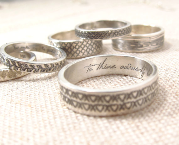 Personalized Ring  -  Patterned Secret Message Ring -  Posey Ring  - Engraved Ring on Etsy, $33.00