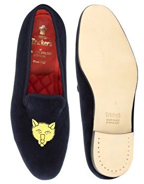 5065bd4b41ec0 Enlarge Trickers Churchill Embroidered Dress Slippers