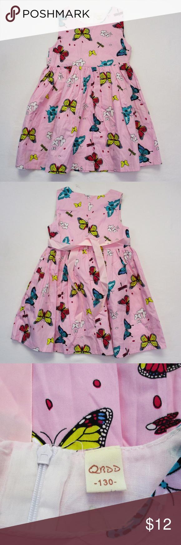 Qrdd Toddler Girls Butterfly Pink Dress Size 4t Qrdd New Without Tags Toddler Girls Butterfly Dress Size 4t Girls Butterfly Dress Pink Dress Butterfly Dress [ 1740 x 580 Pixel ]