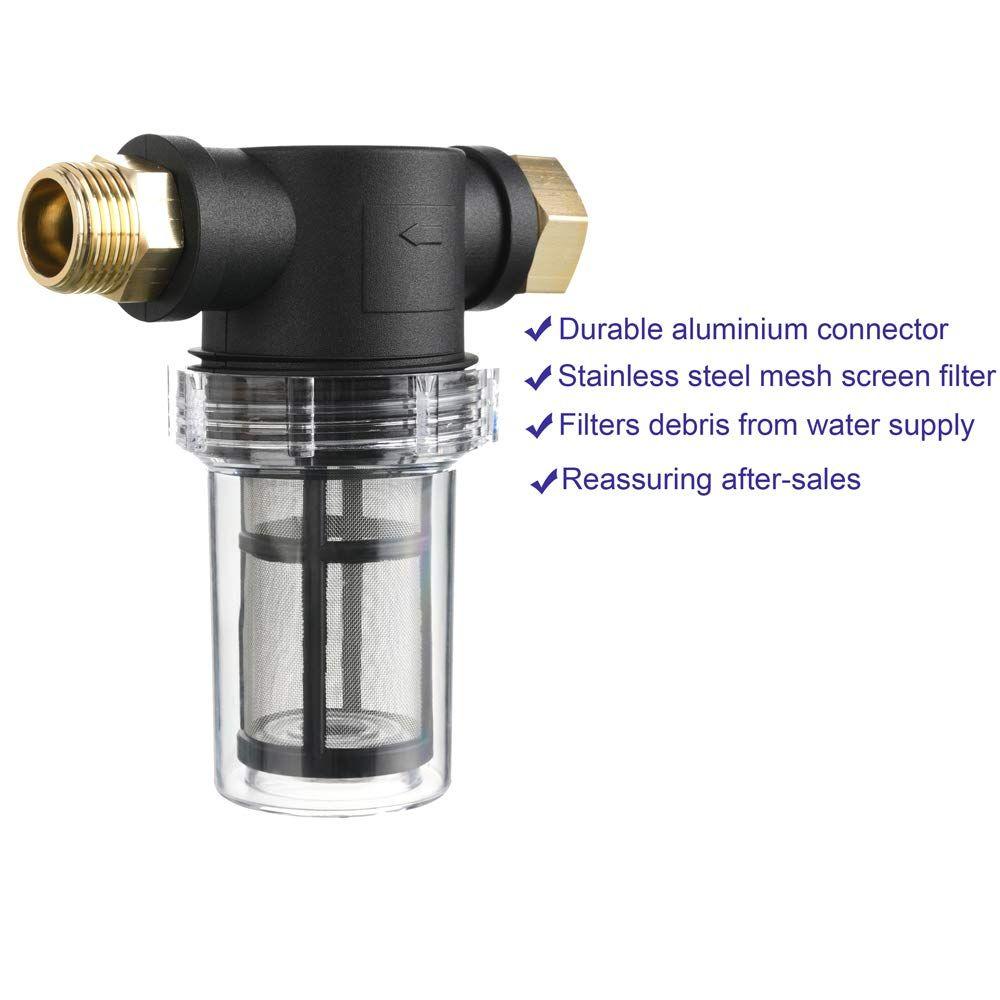 40 Mesh Garden Hose Inlet Filter for Pressure Washer Inline Water Filter