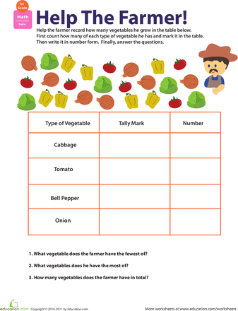 math worksheet : tally time at the farmers market  worksheets farmers and math : Free Market Math Worksheets