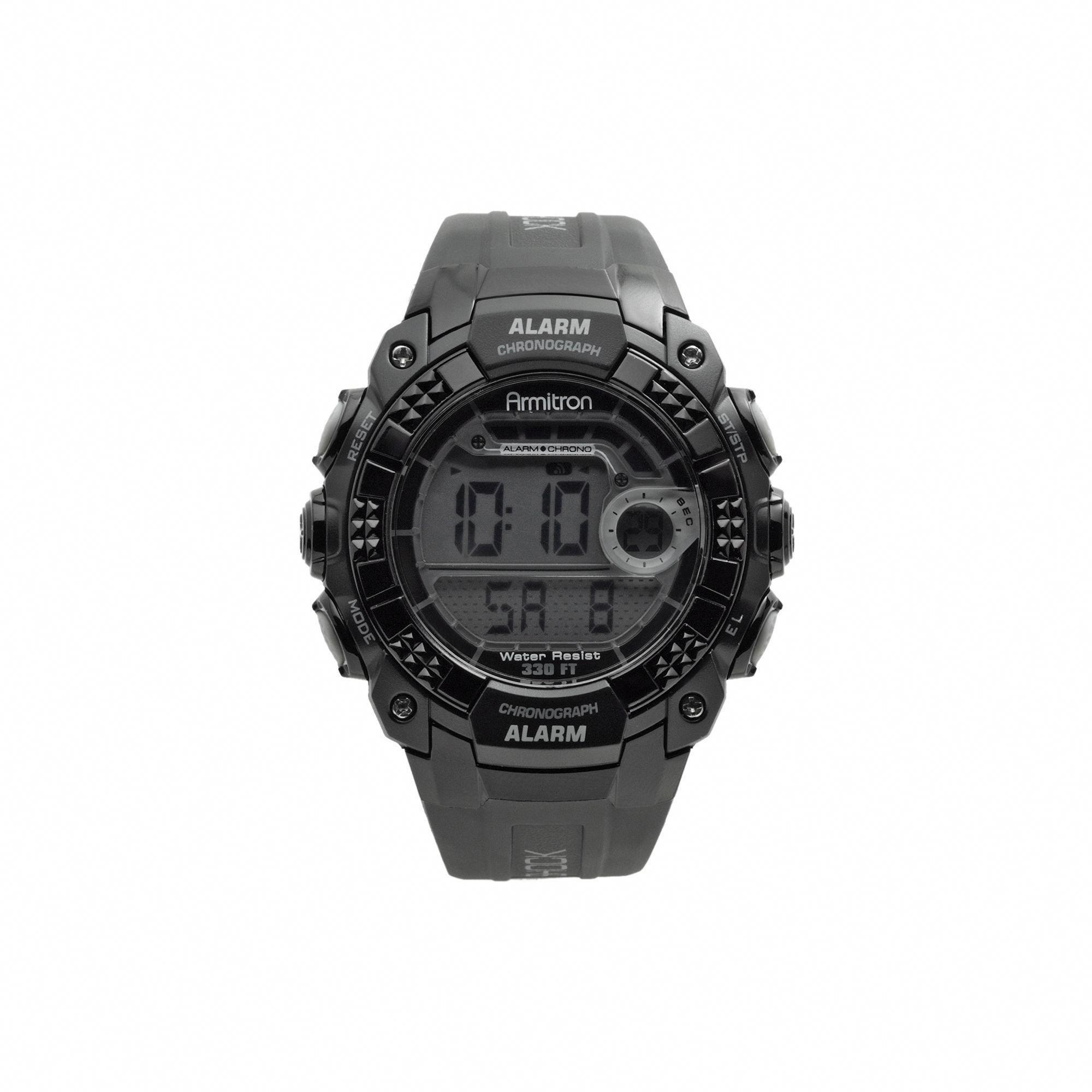 Armitron Men's Digital Watch 40/8209BLK, Size Large